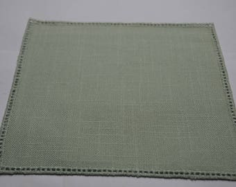 square of fabric to crochet