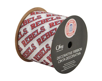 2-1/2-inch Ole Miss Rebels Ribbon, NCCA ribbon  Offray College Ribbon - 9 feet / University of Mississippi
