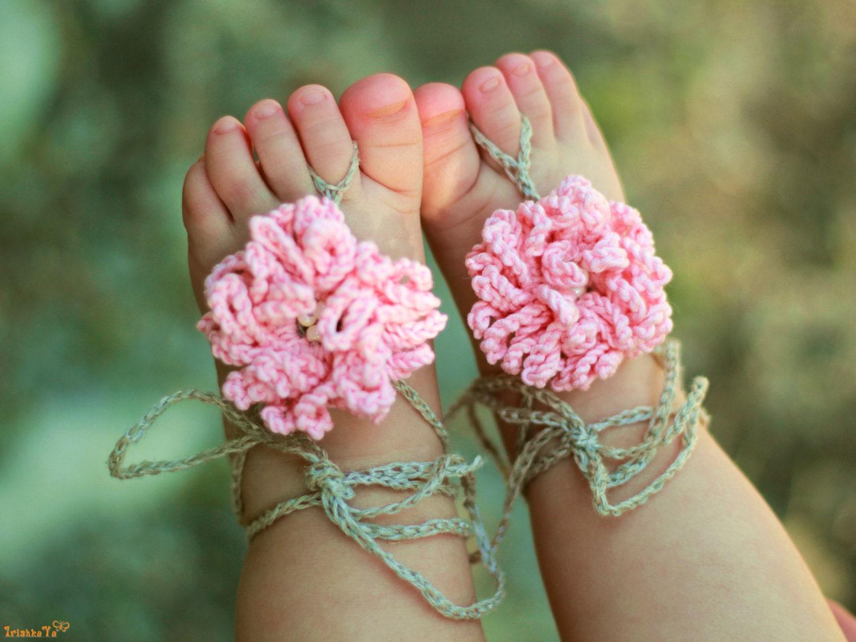 Baby barfuß Sandalen / häkeln Baby Sandalen Baby Flower