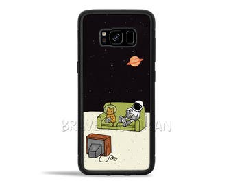 Space Cat Galaxy S8 Case Astronaut Cat Phone Case Nintendo Gameboy Space Kitty iPhone 6s Case Brave Moonman Cool Gift Idea