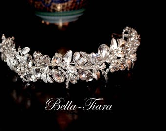 crystal headband, crystal wedding headband, wedding headpiece, wedding hair piece, wedding tiara, bridal headband, bridal headpiece