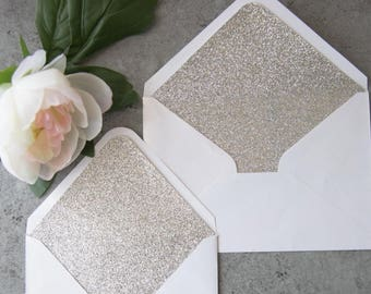 10 wedding envelope liners, wedding invitations envelope and liners, Glitter envelope liners, rose gold liners, gold liners, glitter liners