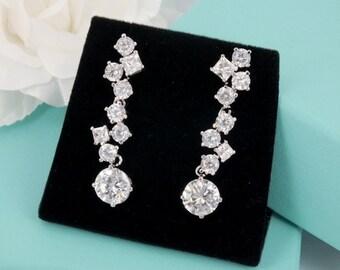 Judy - Cubic Zirconia Bridal Earrings