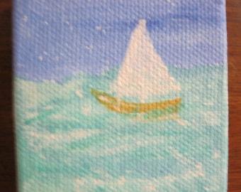 Set Sail Mini Original Acrylic on Canvas