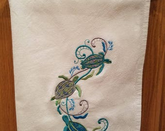 Dish Cloth - Swimming Turtles
