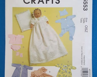 McCall's Crafts 5553 Baby Doll Clothes ~ Uncut