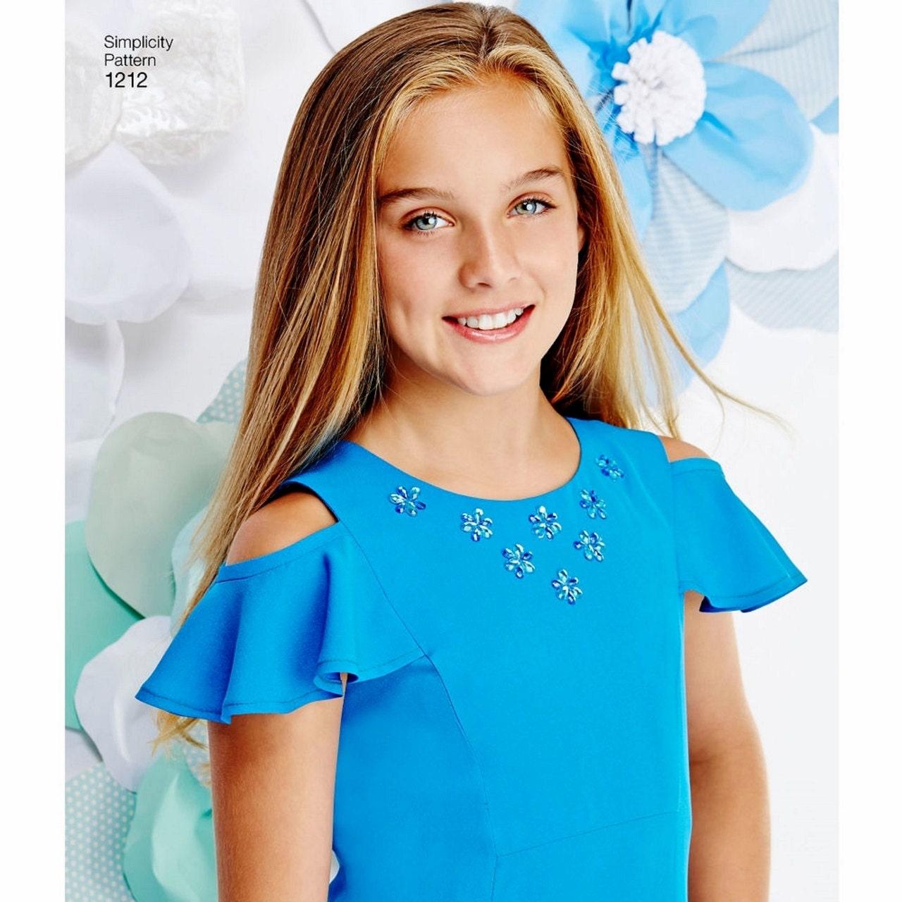 Tween Girls\' Dress Pattern, Tween Girls\' Formal Dress Pattern, Tween ...