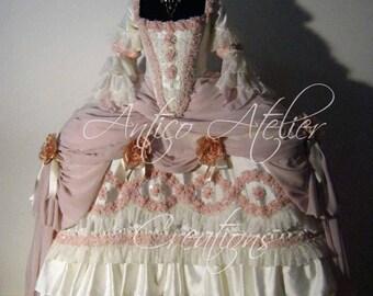 18 Century Rococo  French Court Dress - abito settecentesco donna XVIII sec