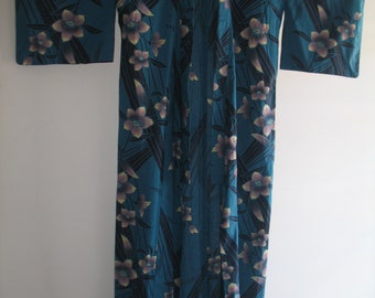 Vintage Blumen Baumwolle Yukata Kimono