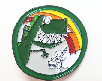 Deluxe Dino and Noodles the Unicorn Unity Pin!
