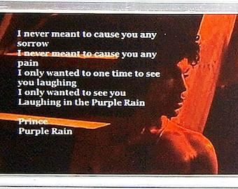 Prince Purple Rain lyrics movie poster Fridge Magnet and Jumbo Keyring Version 2 - New