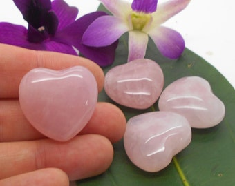 Pink Quartz Heart for Meditation and Metaphysical Work, Reiki, Energy Work, Affirmations, Love, Little Gift, Valentine, I Love You, Heart