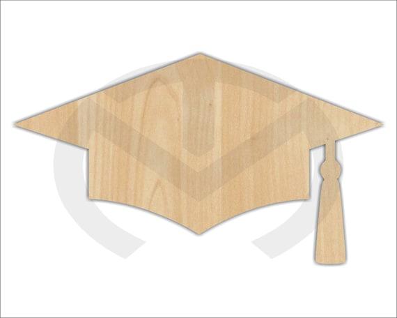 Graduación de madera sin terminar Cap Laser corte guirnalda