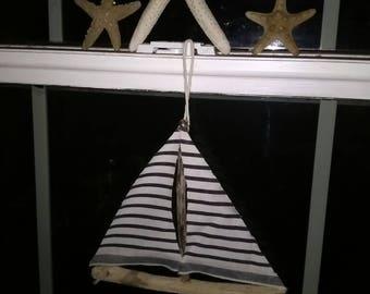 Nautical driftwood sailboats (set of three)