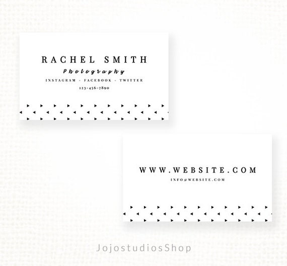 Diy business cards premade business card template for reheart Gallery