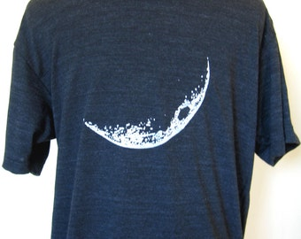 Men Crescent Moon T Shirt on TriBlack XS through XXL Unisex
