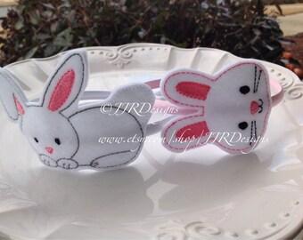 Bunny Headband- Easter Bunny Headband- Easter Slider Headband- Easter Headband- Bunny Headband- Rabbit Headband