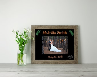 Personalized Wedding Photo Mat, Wedding Gift, Custom Photo, Personalized Frame, Bridal Shower Gift