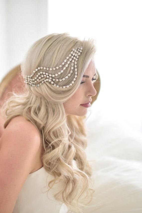 Unique Wedding Veil Alternative Modern bridal headpiece Ripple