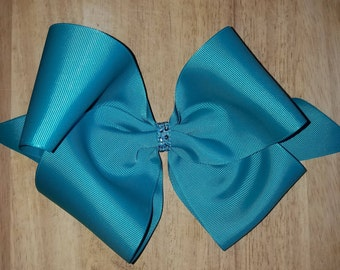 XL Jade/Teal Hair Bows
