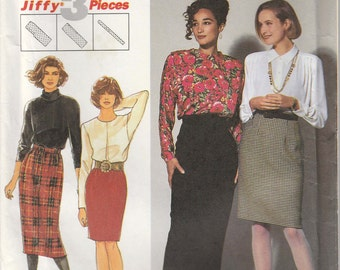 Skirt Pattern Back Zipper Short Long Misses Size 6 - 8 - 10 - 12 Uncut Simplicity 7560