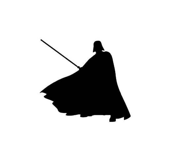 Star Wars Darth Vader Silhouette Vinyl Decal Bumper Sticker
