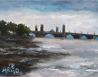 Boston Waters - 7x5in Original Oil Painting