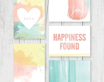 Journaling Cards - Watercolor Collection