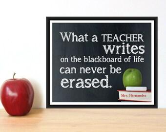 Teacher Appreciation Gift - TEACHER Print