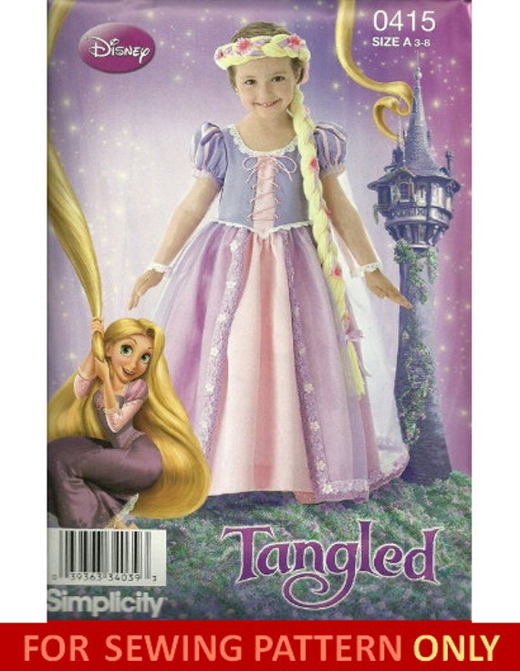 COSTUME SEWING PATTERN Tangled / Disney / Rapunzel Child