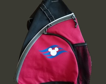 Disney Cruise Line DCL Inspired Sling Backpack Optional Personalization Fish Extender FE Gift