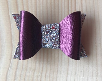 Faux leather - Glitter Bow