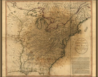 Poster, Many Sizes Available; Map Of The United States Of America 1783