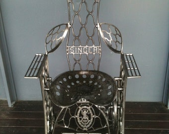 Metal throne