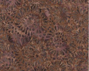 Timeless Treasures Fabric, Confetti Flower Batik, Tonal Flower Print in Brown