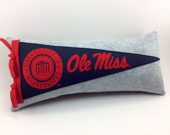University of Mississippi - Ole Miss Pennant Pillow