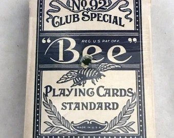 Sands Atlantic City Casino No. 92 Club Special Bee Playing Cards *Complete w/ Jokers* Used By Casino