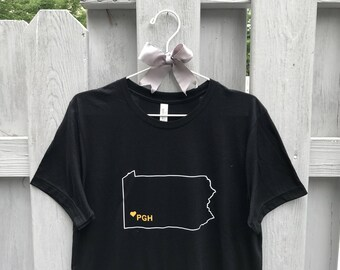 Pittsburgh Love Outline Crew Neck Tee