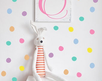 Pastel Colored Dot Decals // Hand drawn Peel and Stick Dots // Nursery Wall Decals // Polka Dot Stickers  Playroom Art Bedroom Wall Stickers