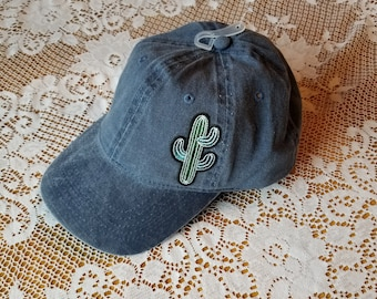 Womens cactus patch baseball cap dad hat