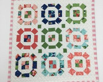 Floral Pastel Mini Quilt