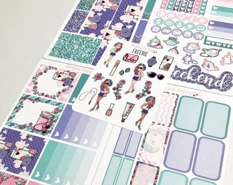 Rosita 4 Piece Mini Planner Sticker Kit + Free Deco Sheet sized for the Erin Condren Planner & Many other planners