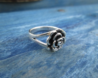 Ring rose A-012 sterling silver Ring Flower Rouse jewerly Christmas