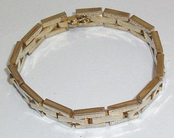 Antique gold link bracelet 60 70erJahre MAB110