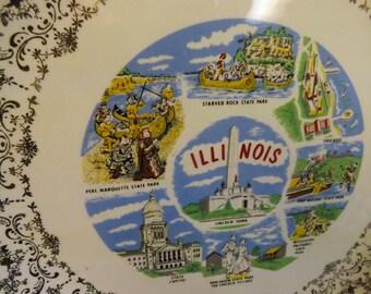 Illinois Souvenir Plate