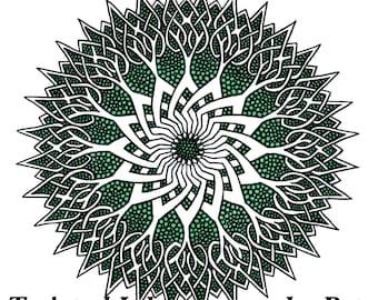 Celtspikes, hand drawn, art print, digital download