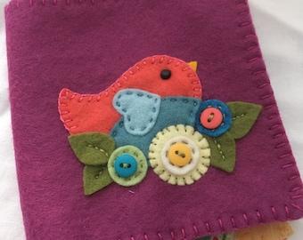 Spring bird needle book