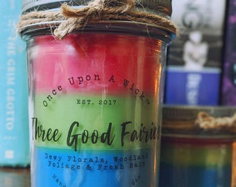 Three Good Fairies | Sleeping Beauty Inspired Bookish Soy Candle