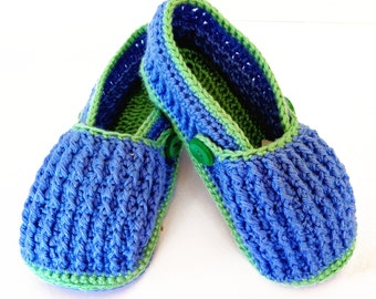 Crochet Pattern for Slippers, Post-It Adult Slippers, Crochet Pattern PDF 12-072 INSTANT DOWNLOAD