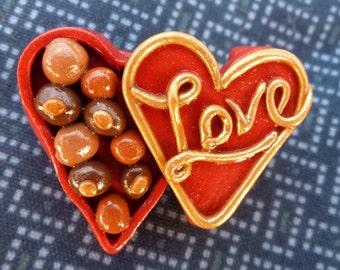 Little Bit of Love Candy Box Pin - V091